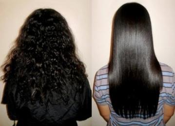 Процедура химического выпрямления волос